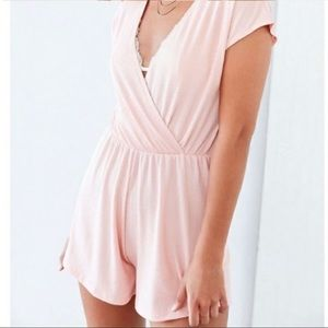Anthropologie Ecote light pink rubbed romper